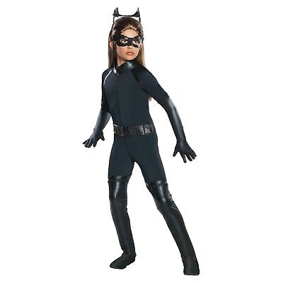 New Girls Small 4-6 Dark Knight Batman CAT WOMAN complete costume Halloween - Costum Cat Woman