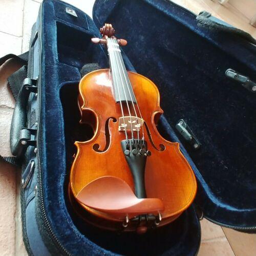 1/16 violin & case, shoulder pad, bow & rosin | excellent