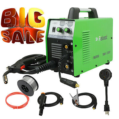 Used Welding Machine 150a Mig Stick 2 In 1 Gas Welder Gasless 100 Duty Cycle Us
