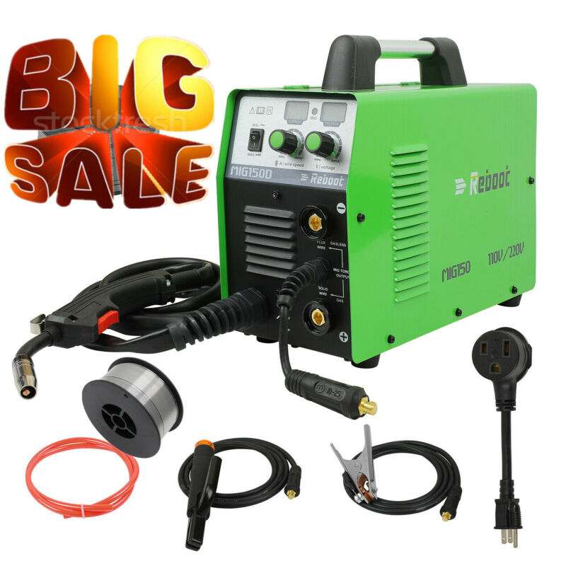 USED WELDING MACHINE 150A MIG STICK 2 IN 1 GAS WELDER GASLESS 100% DUTY CYCLE US