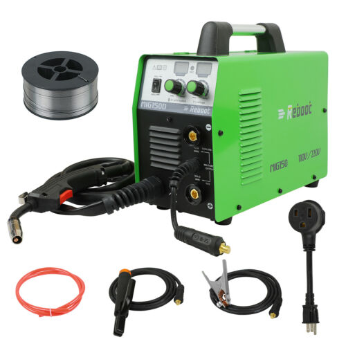 MIG Welder 150 Gas/Gasless 110/220V Flux Core ARC Stick MMA IGBT Inverter GIFT