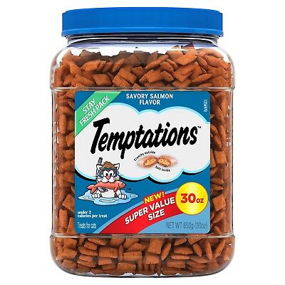 TEMPTATIONS Classic Treats for Cats Savory Salmon Flavor 30-oz FREE SHIPPING!