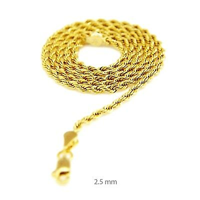 14K Yellow Gold Plated 2.5 mm Thin Short Choker 16