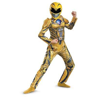 Power Rangers Kids Fasching Halloween Karneval Kostüm Mädchen Lila Gelb S M L