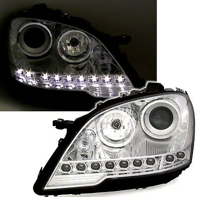 UK RDH Head Lamps for Mercedes M-Klasse W164 ML Head lights with LED DRL look