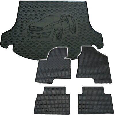 Kia Sportage ab 2010 Kofferraumschutz schwarz m Stossstangenschutz