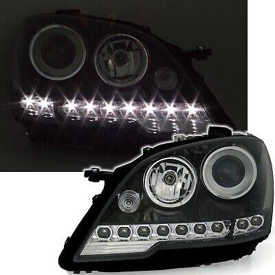 UK Head Lights for Mercedes M-Klasse W164 ML Head lamps LED DRL look Black