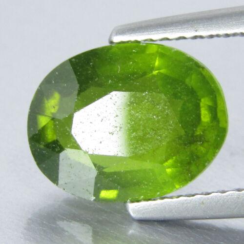 3.00Cts Classic Natural Green Grossular Garnet Oval Shape Loose Gem Ref VDO