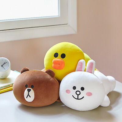 LINE FRIENDS Character Soft Mini Pillow Cushion 3 Types BROWN CONY (Friends Soft Pillow)