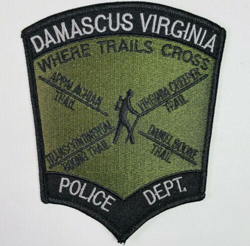 Damascus Police Washington County Virginia VA Subdued OD Green Patch C4