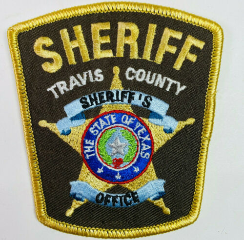 """Travis County Sheriff Texas TX 3.5"""" Patch A8"""