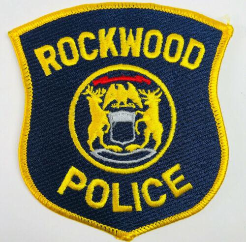 Rockwood Police Wayne County Michigan Patch (A1-A)