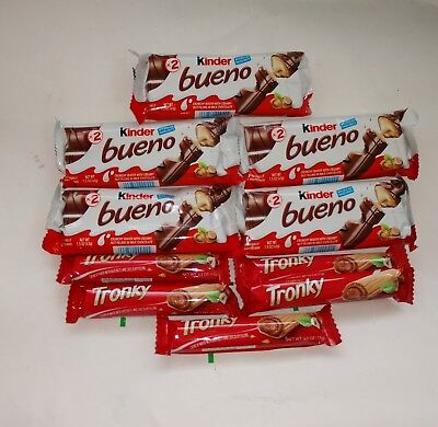 Tronky Kinder Bueno Hazelnut Wafer Cookie Italy Galleta Candy Bar Sweet EURSnack Kinder Bueno Candy