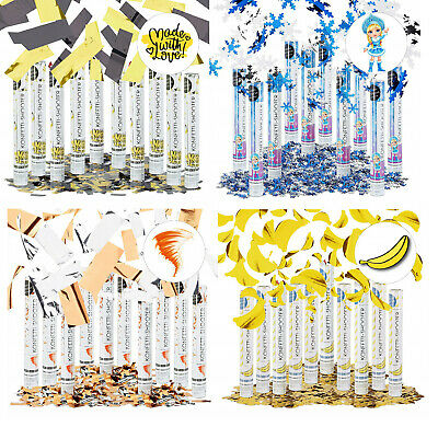 NEW RELAXDAYS PARTY POPPERS CONFETTI SHOOTER WEDDING BIRTHDAY GOLD SILVER - Gold Party Poppers