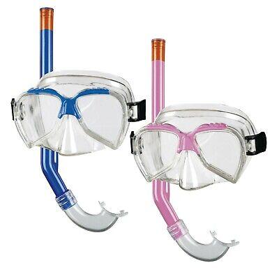 Beco Kinder Tauchermaske diving Set ARI Masken-Schnorchel-Set kids +4 blau pink