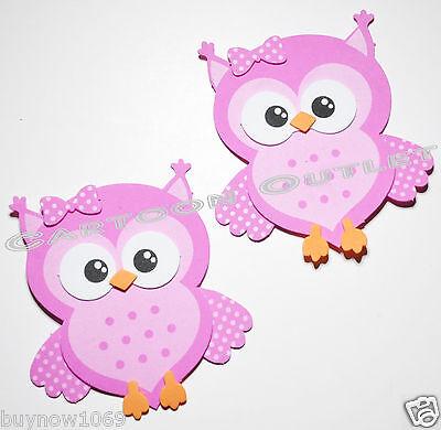 10 pc BABY SHOWER FAVORS GIFTS PINK OWL DECORATION CENTERPIECE FOAM RECUERDOS 4