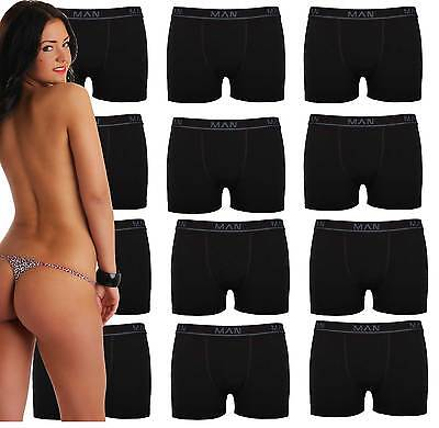 3 | 10 | 20 Boxershorts Baumwolle Herren Retro Shorts Schwarz Unterhosen Männer