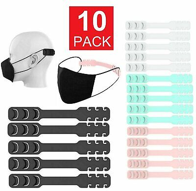10pcs Face Mask Ear Hook Adjustable Ear Strap Extension Mask Grips Fixing Buckle Accessories
