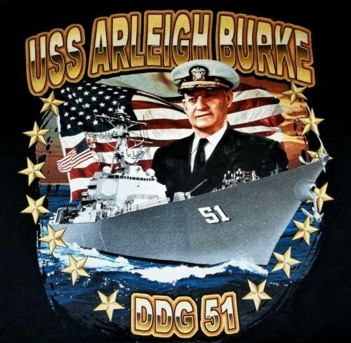 USS Arleigh Burke DDG-51 T-Shirt Adult XL X-Large United States Navy USN
