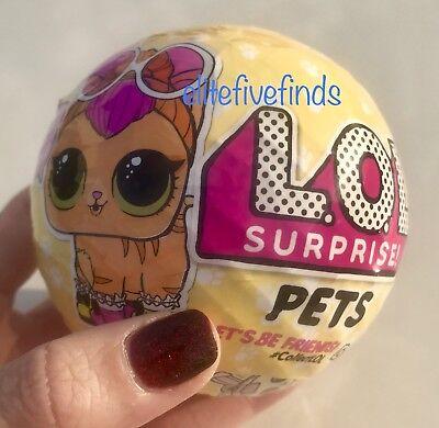 LOL SURPRISE PETS Series 3 Wave 1 Cat Dog ANIMALS BALL Doll L.O.L.