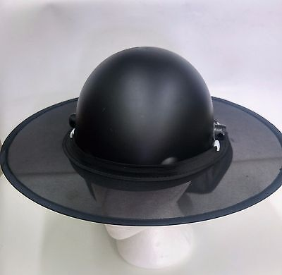 Hard Hat Shade W Clip - Black For All Types Of Hard Hat - Full Brim Fibre Cap