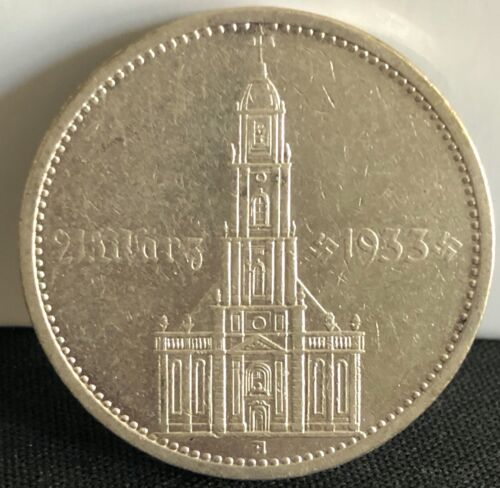 Germany - Third Reich 5 Reichsmark Church w/ Date 1934 A - Collector Grade Coin