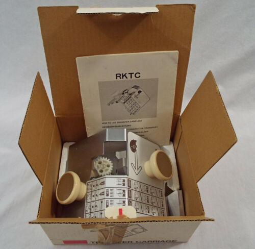 Vintage Knitking RKTC Transfer Carriage for Knitting Machine PreOwned Box Manual