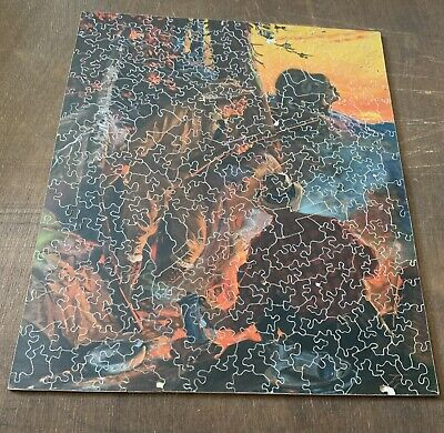 Vintage Wooden Jigsaw Puzzle - An Unwelcome Guest - Complete 286 Pieces