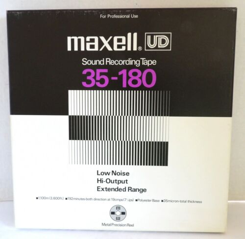 Maxell UD 35-180 Professional Sound Recording Tape Used