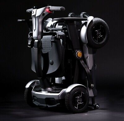 Drive Knight in Silver - Automatic Folding Mobility Scooter with Remote
