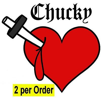 2 Chucky bride Tiffany bleeding heart fancy dress tattoo, Halloween transfers - Fancy Heart Tattoos