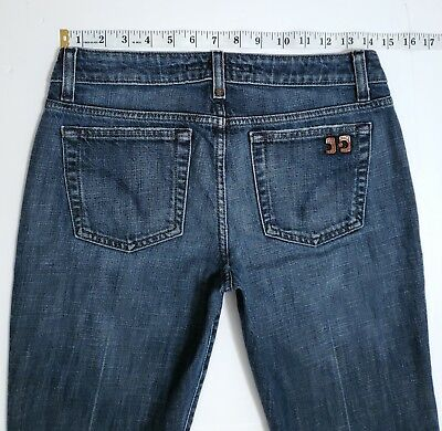 Joe's Jeans Women's HONEY Low Rise Faded Dark Stone Wash Boot Cut 28 x 33 Dark Stonewash Low Rise Boot Jean