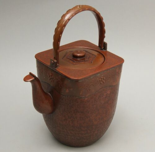 Japanese   beautiful design vintage  copper Kettle Mizutsugi  Tea Ceremony CC98