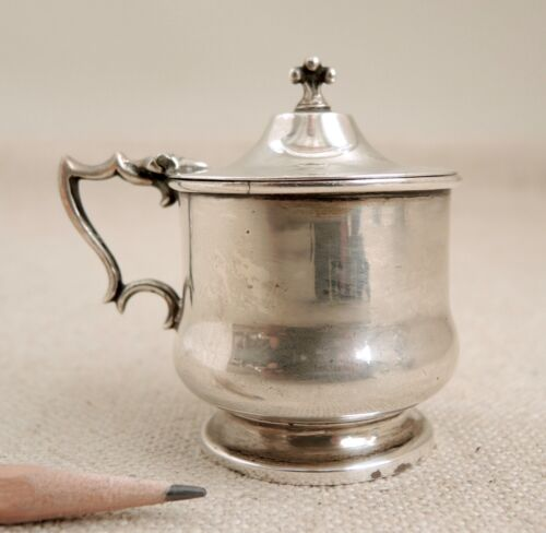 Edwardian Sterling Silver Mustard Pot Colen Cheshire 1913 Chester Vtg English
