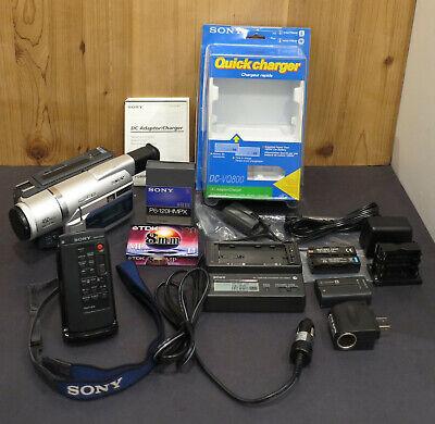 Sony DCR-TRV520 Digital8 Hi8 Handycam Video Camcorder RMT-814 Remote DC-VQ800