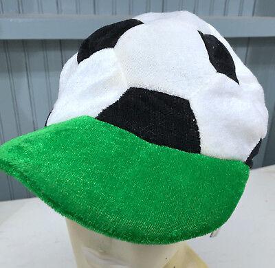 Kids Novelty Soccer Ball Field Pitch Costume Cap Hat