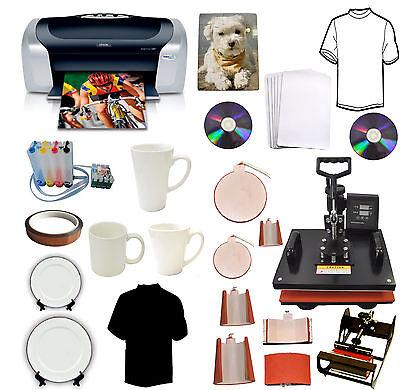 8in1 Heat Pressepson Printercisssublimation Ink Mugshatplatet-shirts Combo