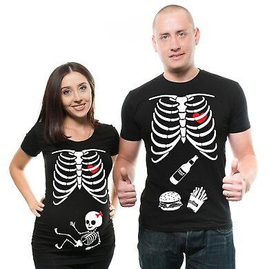 Halloween Skeleton X-ray baby Girl maternity pregnancy shirt Top Paternity - Halloween Skeleton Baby Shirt