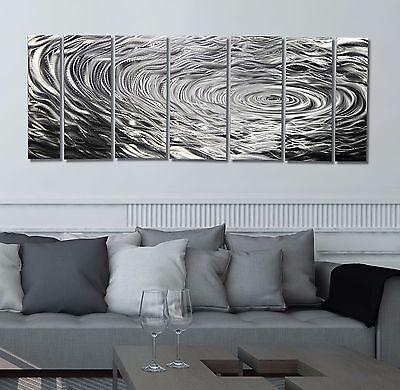 Statements2000 Silver Abstract Metal Wall Art Panels by Jon Allen Ripple Effect