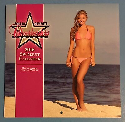 DALLAS COWBOYS CHEERLEADERS 2016 Swimsuit Calendar BRAND NEW never used - Dallas Cowboys Cheerleader