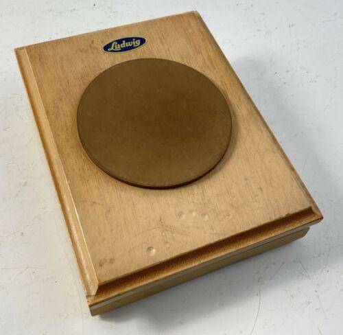 Vintage Ludwig Wood Practice Pad Percussion Drums