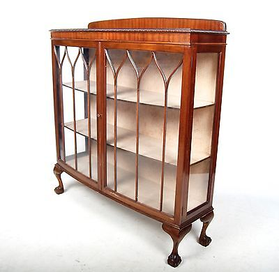 Antique Bookcase Glazed Display Cabinet Mahogany Astragal Glass China Cupboard B