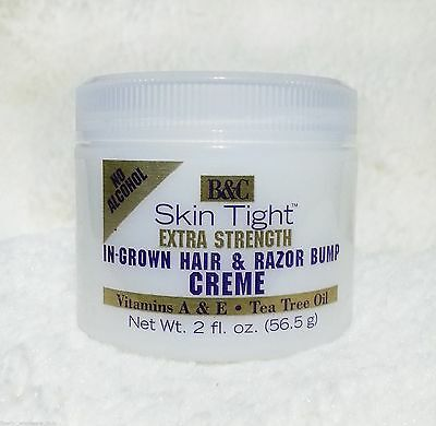 Razor Bump-creme (B&C SKIN TIGHT IN-GROWN HAIR/RAZOR BUMP CREME (EXTRA STRENGTH)  2 OZ.)