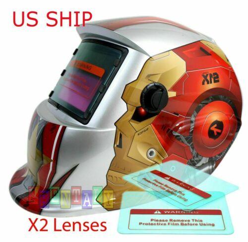 Robo Pro Solar Auto Darkening Welding Helmet Arc Tig Mig Mask Grinding Welder