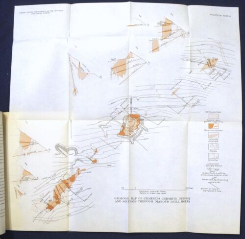 USGS OREGON CHROMITE DEPOSITS of GRANT COUNTY Vintage 1940 With SIX MAPS!