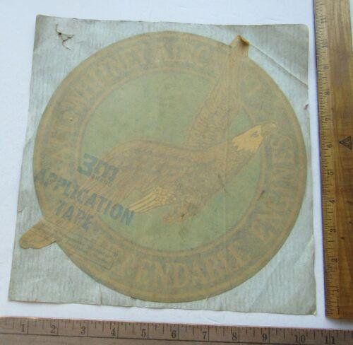 "Vintage Rare Pratt & Whitney Aircraft 10"" x 10"" Unused Decal Sticker"