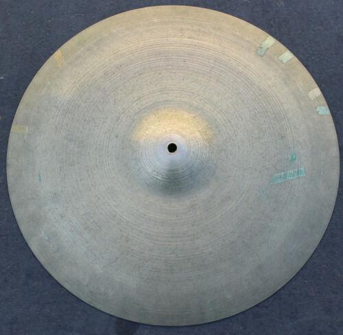 "Vintage Zildjian 1960s Short Stamp Drum Crash Ride Cymbal Percussion 19"" Rare"
