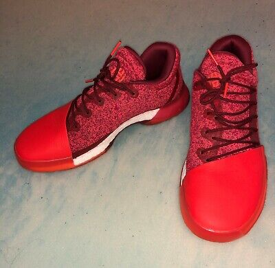Adidas James Harden Vol 1 Red Glare Basketball Shoes Size 11.5