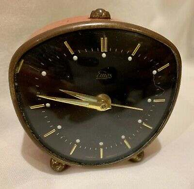 Vintage 1950's Wind Up Alarm Clock In Fully Working Order