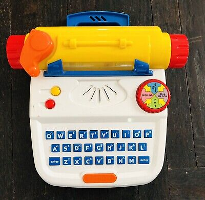 Vintage TECTRON Typewriter Toy Car Learning Spelling Letters Educational COOL